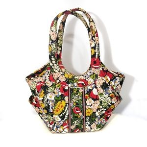 Vera Bradley Side By Side Tote Poppy Fields Red